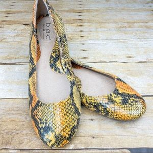 Born Concepts Faux Snakeskin Flats